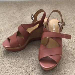 Franco Sarto wedge sandals Sz 6.5